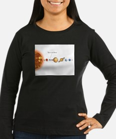 You are here- Long Sleeve T-Shirt