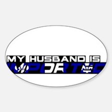 My Husband is Imported (France) Oval Decal