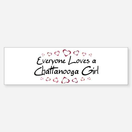 Chattanooga Girl Bumper Bumper Bumper Sticker