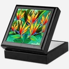 Bird of Paradise Flower Exotic Nature Keepsake Box