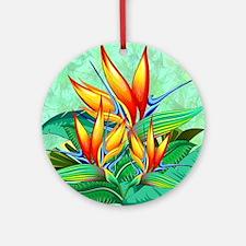 Bird of Paradise Flower Exotic Nature Round Orname