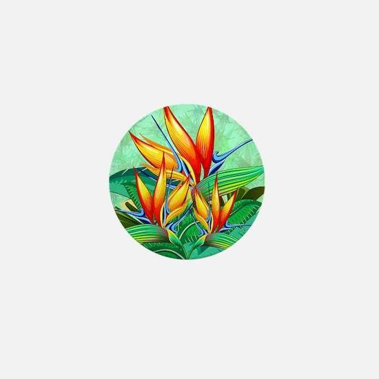 Bird of Paradise Flower Exotic Nature Mini Button