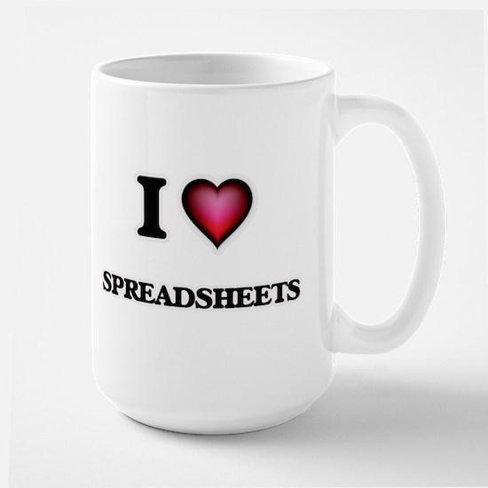 I love Spreadsheets Mugs