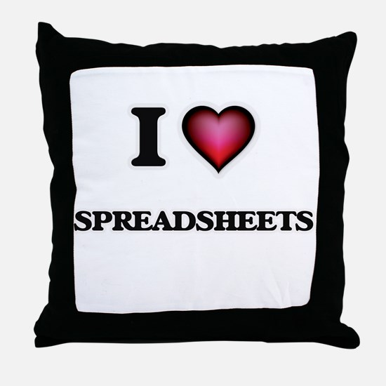 I love Spreadsheets Throw Pillow