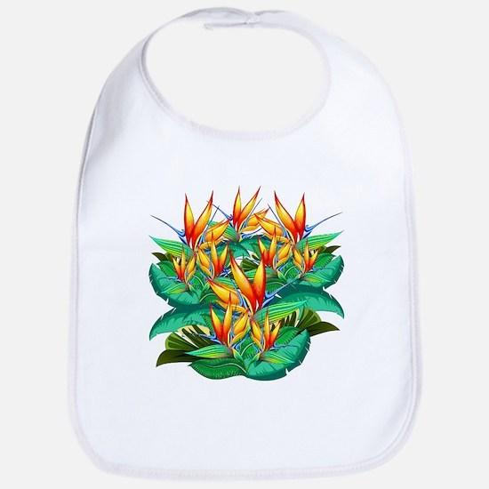 Bird of Paradise Flower Exotic Nature Bib