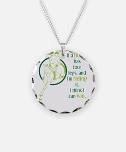 if a horse has four legs Necklace