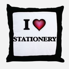 I love Stationery Throw Pillow