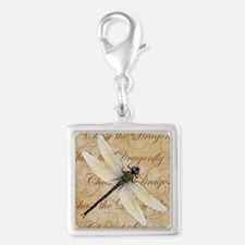 White Dragonfy Collage Charms