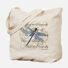 Blue Dragonfly Collage Tote Bag