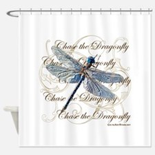 Blue Dragonfly Collage Shower Curtain