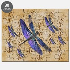 Purple Dragonfly Collage Puzzle