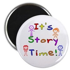 Story Time w Stick Kids Magnet