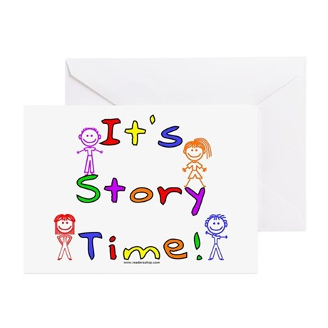 Story Time w Stick Kids Greeting Cards (Pk of 10)