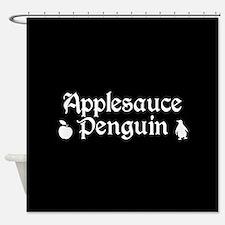 TVD Applesauce Penguin Shower Curtain