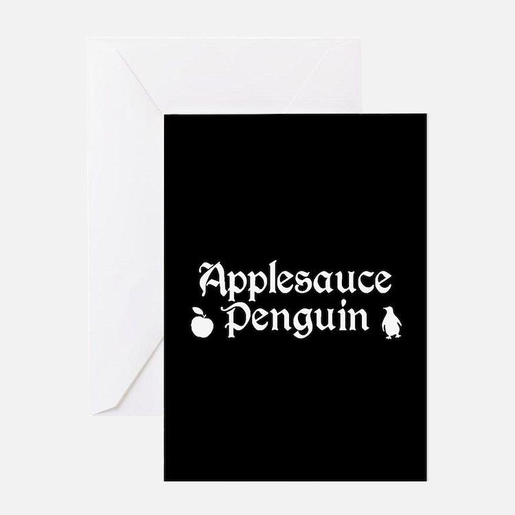 TVD Applesauce Penguin Greeting Cards