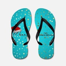 Cute Abstract christmas decoration Flip Flops