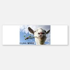 Weed Goat Bumper Bumper Bumper Sticker