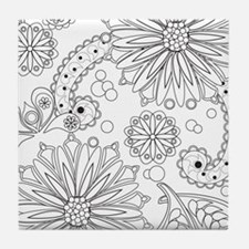 Cute Silver color Tile Coaster