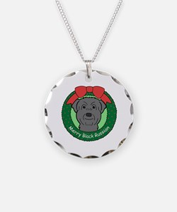 Cute Black russian terrier Necklace