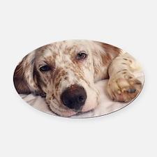 Unique Dog is good Oval Car Magnet