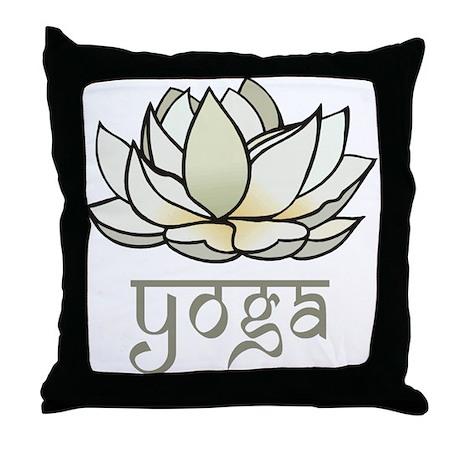 Lotus Yoga Throw Pillow