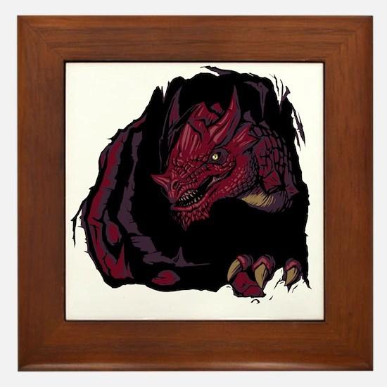 Cute Dungeons dragons Framed Tile