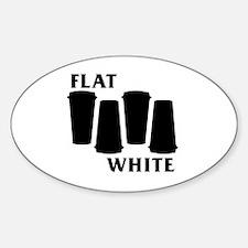 Unique Black flag hardcore Sticker (Oval)