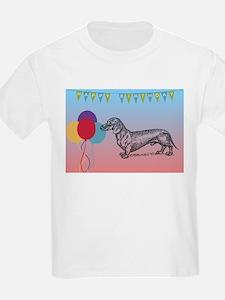 Dachshund Happy Birthday T-Shirt