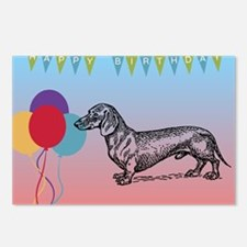 Dachshund Happy Birthday Postcards (Package of 8)