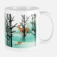 Woodland Critter Winter Mugs