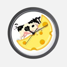 The Cow Jumped Over the Cheese Moon Wall Clock