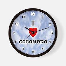 I Love Casandra (Black) Valentine Wall Clock