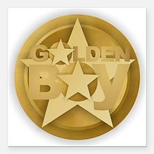 "Golden Boy Square Car Magnet 3"" x 3"""