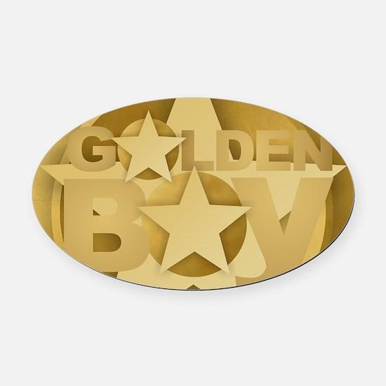 Golden Boy Oval Car Magnet