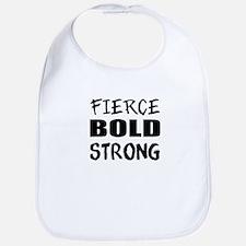 Fierce Bold Strong Workout Bib