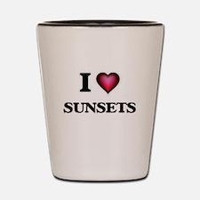 I love Sunsets Shot Glass