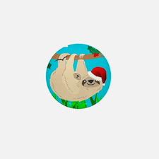 santa sloth Mini Button