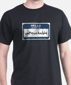 Feeling untouchable Ash Grey T-Shirt