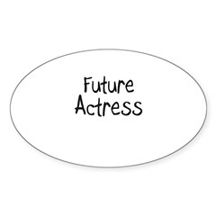 Future Actress Oval Decal