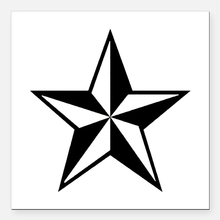 "Lone Star Square Car Magnet 3"" x 3"""