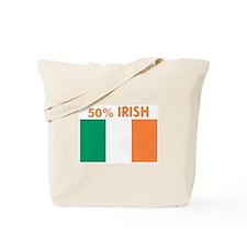 50 PERCENT IRISH Tote Bag