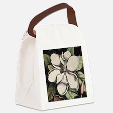 Vintage Magnolia Canvas Lunch Bag