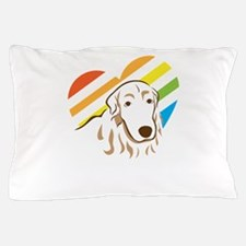 i love golden retriever Pillow Case