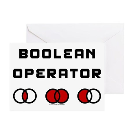 Boolean Operator Greeting Cards (Pk of 10)