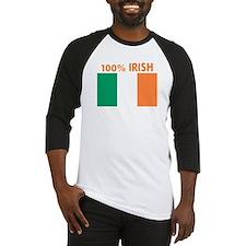 100 PERCENT IRISH Baseball Jersey