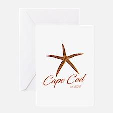 Cape Cod Starfish Greeting Cards