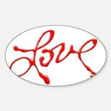 Love - Red Abstract Decal