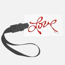 Love - Red Abstract Luggage Tag