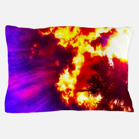Palm Tree Sunburst Pillow Case