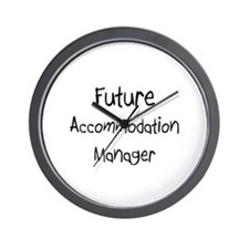 Future Accommodation Manager Wall Clock